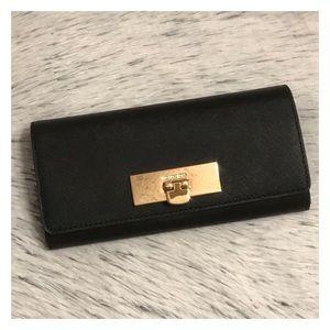 NWT Michael Kors Callie Flap Envelope Wallet Black